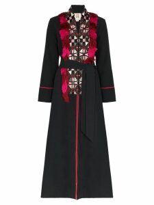 Figue Olatz fringed tie-waist coat - Black