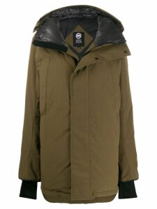 Canada Goose short hooded padded parka - Green