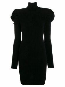 Alexandre Vauthier rounded shoulder mini dress - Black
