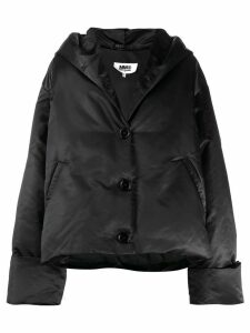 Mm6 Maison Margiela oversized padded coat - Black