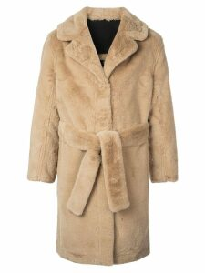 Opening Ceremony reversible faux fur coat - Brown