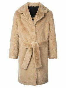 Opening Ceremony reversible faux fur coat - Brown