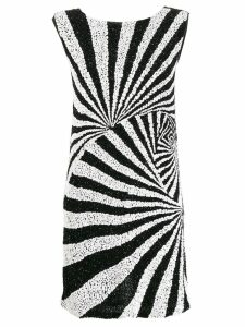 P.A.R.O.S.H. mod-style sequinned dress - Black