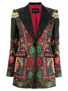 Etro tuxedo style printed blazer - Black