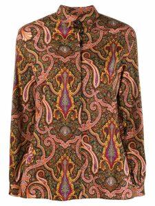 Etro paisley print long sleeve shirt - Black