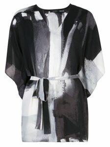 Natori printed kaftan top - Black