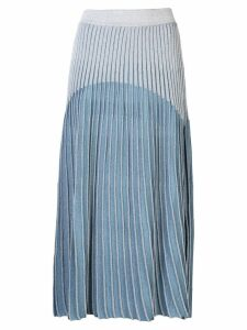 Balmain high-waisted pleated skirt - Blue