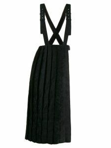 Comme Des Garçons Noir Kei Ninomiya layered pleated skirt - Black