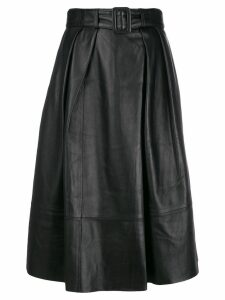 Tommy Hilfiger Tommy x Zendaya Fitted Pleated Waist Skirt - Black