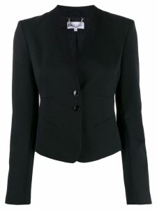 Patrizia Pepe fitted short blazer - Black