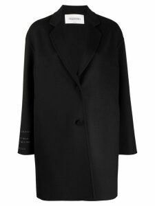 Valentino oversized single-breasted coat - Black