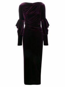 Talbot Runhof Rosia evening gown - PURPLE