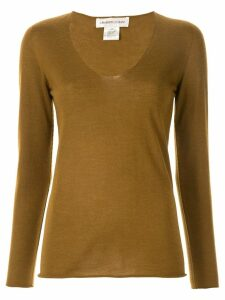 Lamberto Losani long-sleeve fitted sweater - Brown