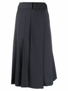 Low Classic belted pleated skirt - Blue