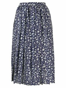 Sara Lanzi graphic print midi skirt - Blue