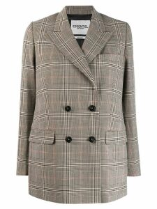Essentiel Antwerp checked double breasted blazer - Neutrals