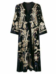 Biyan oversized kimono coat - Blue