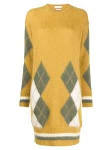 Ballantyne argyle knit dress - Yellow