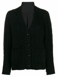 Sacai V-neck cardigan - Black