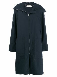 Jil Sander oversized parka coat - Blue