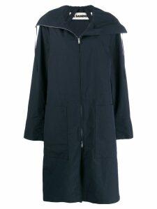 Jil Sander oversized parka coat - Blue