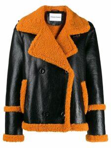 Stand Lilli patent faux-fur jacket - Black