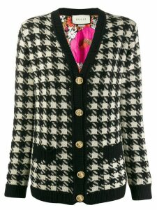Gucci houndstooth buttoned cardigan - Black