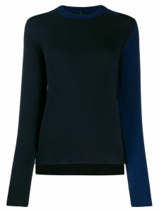 Sara Lanzi contrast fitted jumper - Black