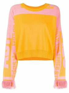 Adidas cropped round neck sweater - Yellow