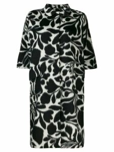 Sara Lanzi graphic print midi coat - Black