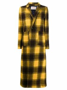La Doublej checked duster coat - Yellow