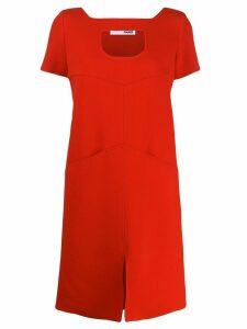 Courrèges cutout shift dress - Red
