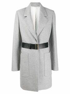 Joseph belted single-breasted coat - Grey