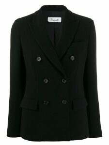 Brag-wette double breasted blazer - Black