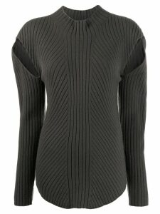 Low Classic cutout ribbed jumper - Green