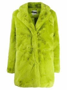 Apparis neon fur coat - Green