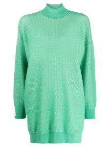 Fendi logo sweatshirt dress - Green