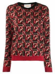 La Doublej geometric jumper - Red