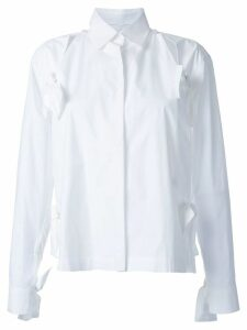 Roberts Wood bow detail split shirt - White