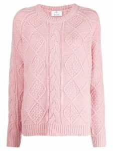 Allude cable knit jumper - Pink
