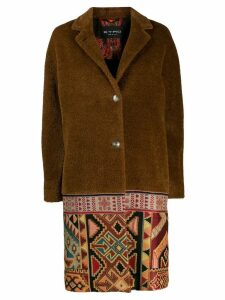 Etro navajo print coat - Brown