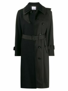 Sacai contrast trench coat - Blue