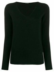 Iris Von Arnim v-neck jumper - Black