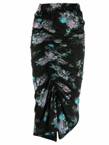 Preen By Thornton Bregazzi Becka floral draped skirt - Black