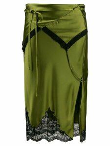 Alexander Wang lace hem skirt - Green