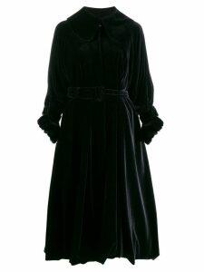 Simone Rocha velvet belted coat - Black