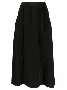 McQ Alexander McQueen ruffle trim skirt - Black