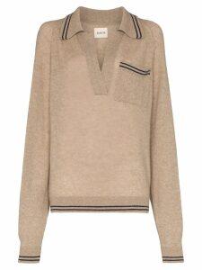 Khaite Ellen cashmere collared sweater - Multicolour