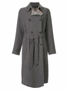 Rag & Bone belted double-breasted coat - Grey