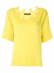 Reinaldo Lourenço cut out neck blouse - Yellow